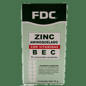 Zinc Con Vitamina B,E y C 60 Comprimidos