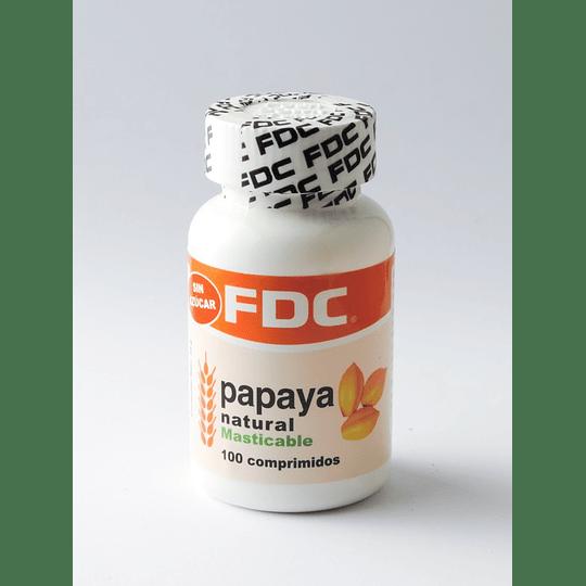 Papaya Natural Masticable 100 comprimidos