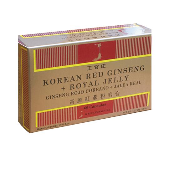 Korean Red Ginseng + Jalea Real 60 Caps.