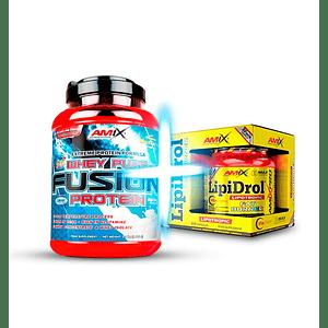 Pack Definición - Proteína Whey Fusión  5.1lb + Lipidrol 300 caps