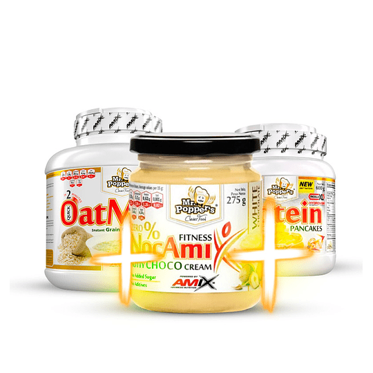Pack Gourmet - Oatmash + Pancakes + Nocamix chocolate blanco