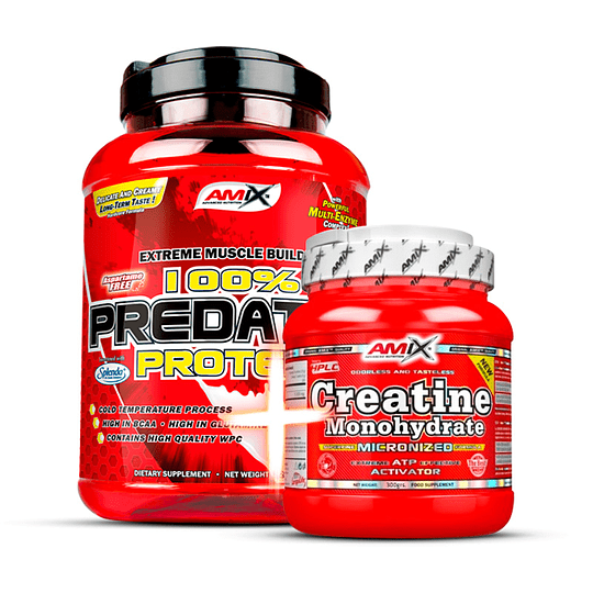 Pack Desarrollo Muscular - Proteína Predator 4.4 lb + Creatina 300 gr