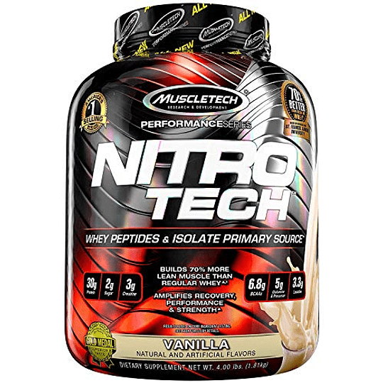 Proteína  Nitro Tech 4 Lbs  - Image 1