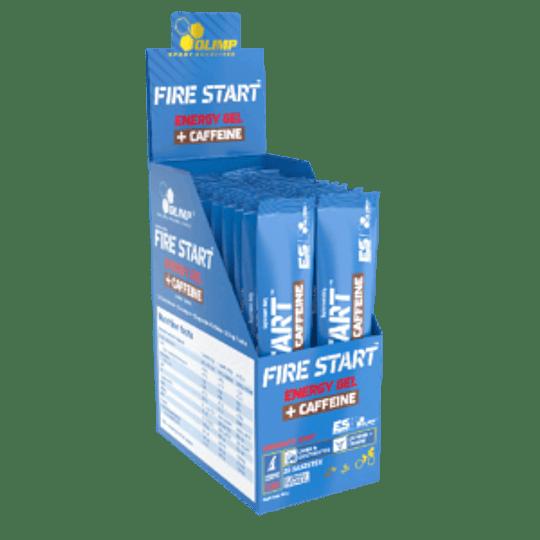 FIRE START ENERGY GEL + CAFFEINE 20 Unidades