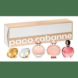 Miniaturas Paco Rabanne 5Pcs Mujer  Edp Estuche