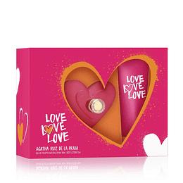 Love Love Love Agatha Ruiz De La Prada Estuche 80Ml 3Pc Mujer  Edp