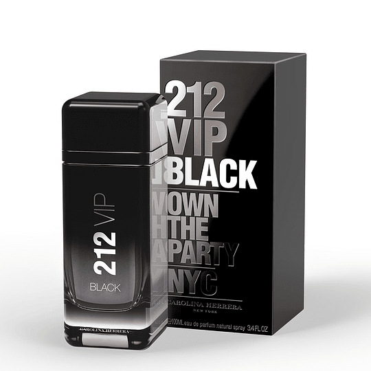 212 Vip Black Carolina Herrera 100Ml Hombre  Edp