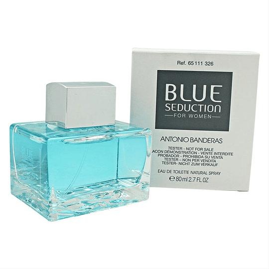 Blue Seduction Antonio Banderas Tester 80Ml Mujer  Agua De Tocador