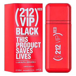 212 Vip Black Red Carolina Herrera 100Ml Hombre  Perfume