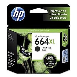 Cartucho de Tinta HP 664 XL Negro