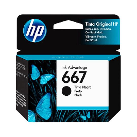 Cartucho de Tinta HP 667 Negro