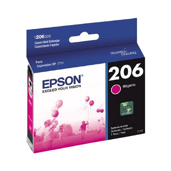 Cartucho de Tinta Epson T206 Magenta