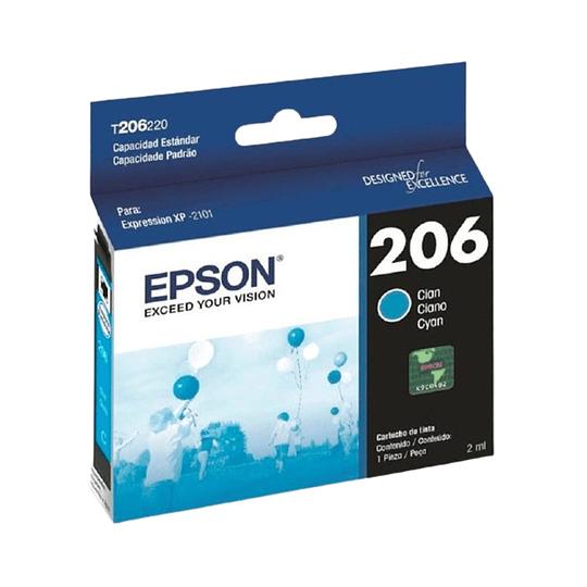 Cartucho de Tinta Epson T206 Cyan