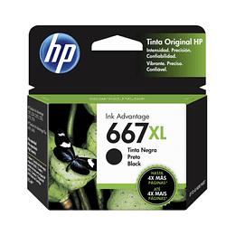 Cartucho de Tinta HP 667 XL Negro