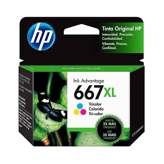 Cartucho de Tinta HP 667 XL Tricolor