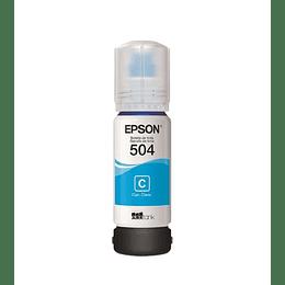 Tinta Epson T504 Cian
