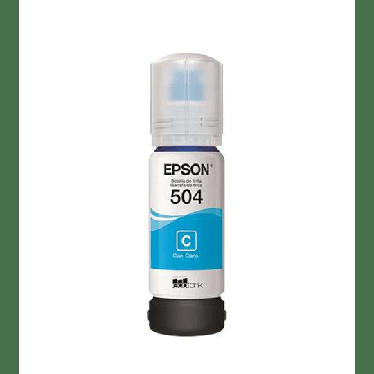 Botella de Tinta Epson T 504 Cian