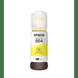Botella de Tinta Epson T 504 Amarillo