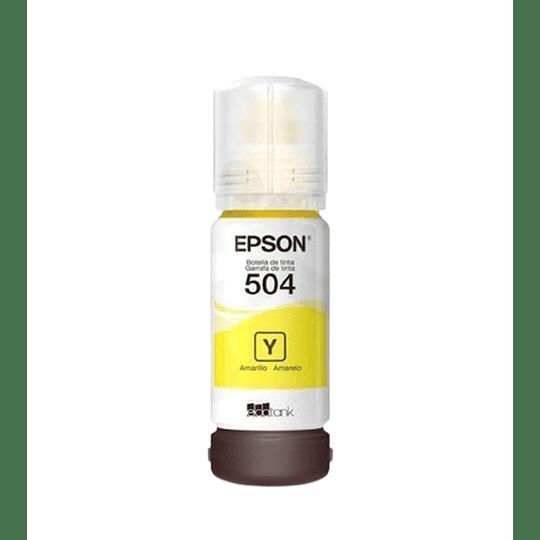 Tinta Epson T504 Amarillo