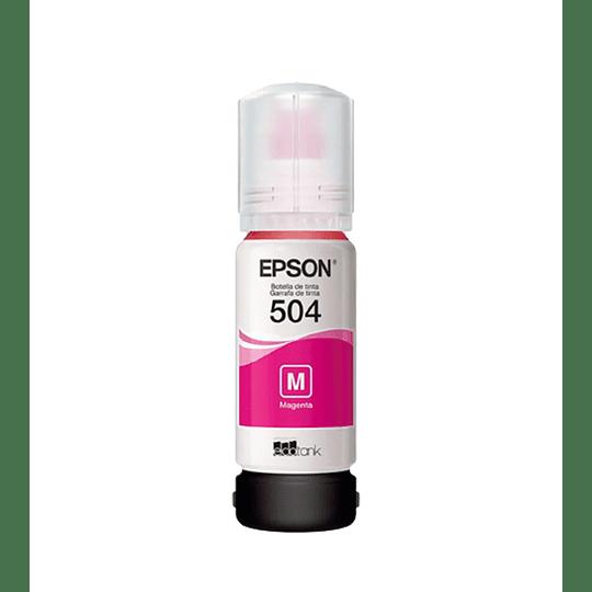 Botella de Tinta Epson T 504 Magenta