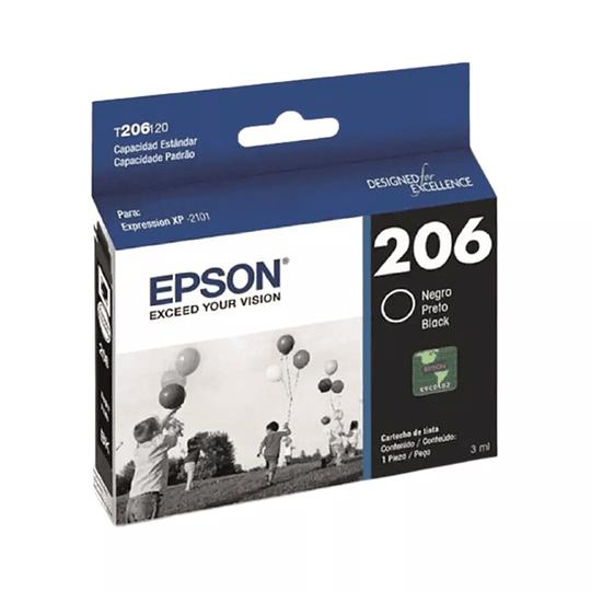 Cartucho de Tinta Epson T 206 Negro