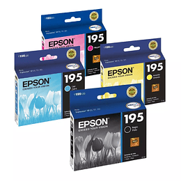 Tintas Epson T 195 Pack 4 Colores