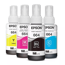 Tintas Epson T664 Pack 4 Colores