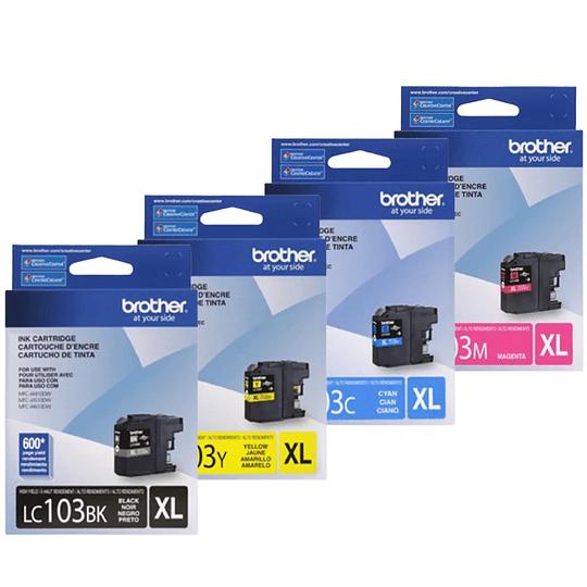 Cartuchos de Tinta Brother LC103 XL Pack 4 colores