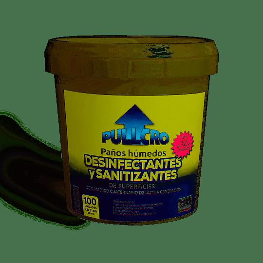 TOALLAS DESINFECTANTE BALDE 100 UN PULLCRO