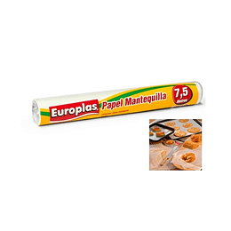 ROLLO DE PAPEL MANTEQUILLA 7,5 MT EUROPLAS
