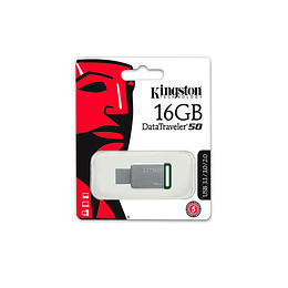 PENDRIVE KINGSTON 16GB 3.0 DATATRAVELER VERDE