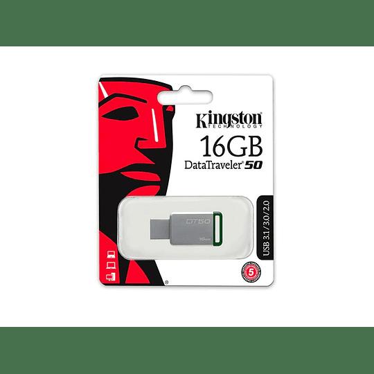 PENDRIVE KINGSTON 16GB 3.0 DATATRAVELER VERDE