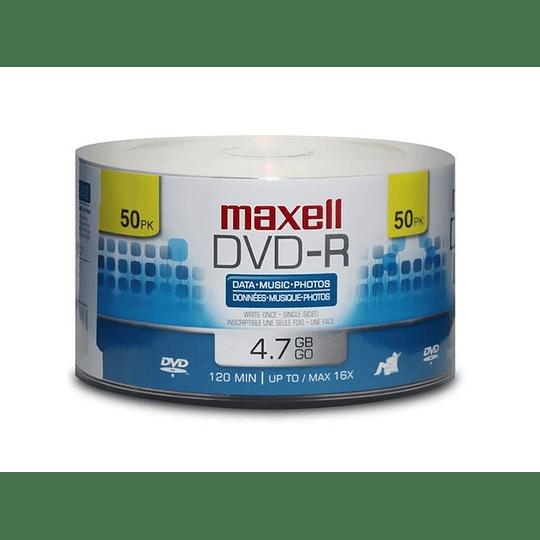 DVD-R (PACK 50 UN) 4.7 GB MAXELL