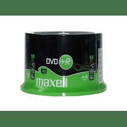 DVD+R (PACK 50 UN) 4.7 GB MAXELL