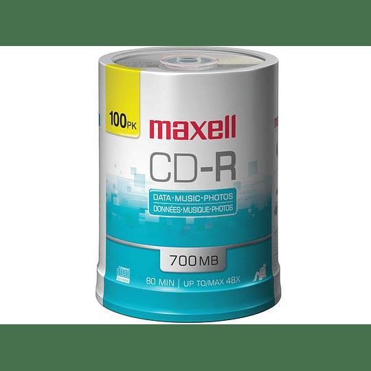 CD-R (PACK 100 UN) 700MB MAXELL