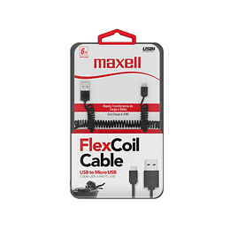 "CABLE USB A MICRO USB ""333 BLACK"" MAXELL"