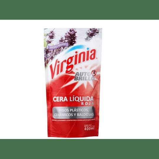 CERA LIQUIDA ROJA A/BRILLO PLASTI 400ML VIRGINIA