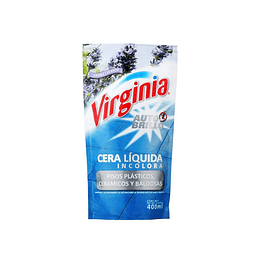 CERA LIQUIDA A/BRILLO INCOLORA 400ML VIRGINIA