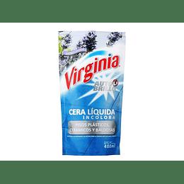 CERA LIQUIDA A/BRILLO INCOLORA 400ML VIRGINIA