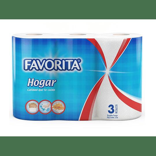 TOALLA DE PAPEL (24 ROLLO X 12,5 MT) FAVORITA