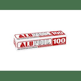 PAPEL ALUMINIO ROLLO 30 CM X 100 MT ALUFOIL