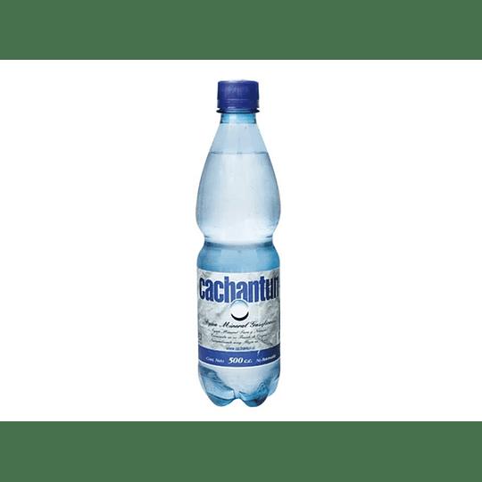 AGUA MINERAL CON GAS BOTELLA 500 CC CACHANTUN