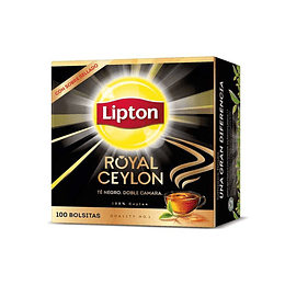 TE ROYAL CEYLON BLACK (CAJA X 100 BOLSITAS) LIPTON