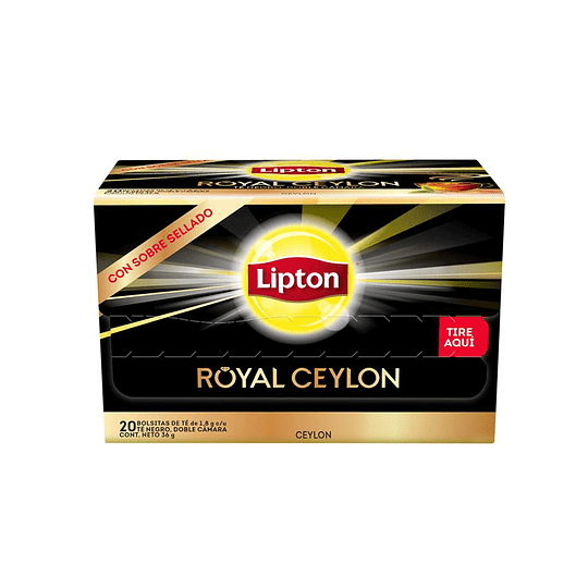 TE ROYAL CEYLON BLACK (CAJA X 20 BOLSITAS) LIPTON