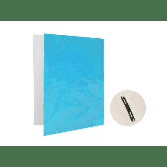 CARPETA PLASTIFICADA C/GUSANO CELESTE PROARTE