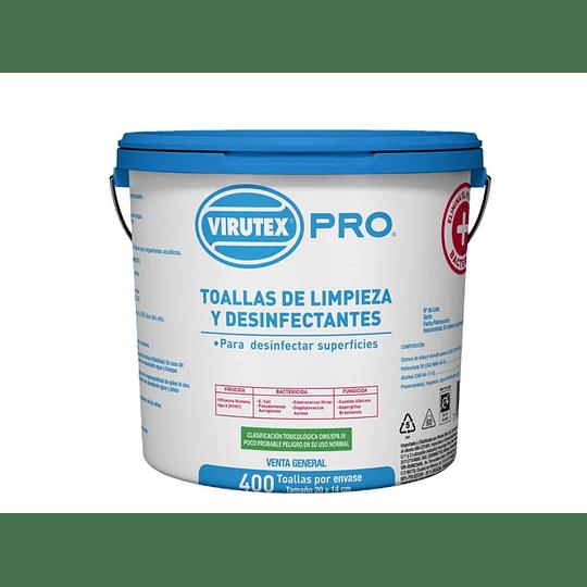 TOALLAS HUMEDAS DESINFECTANTE BALDE 400 UDS VIRUTEX PRO