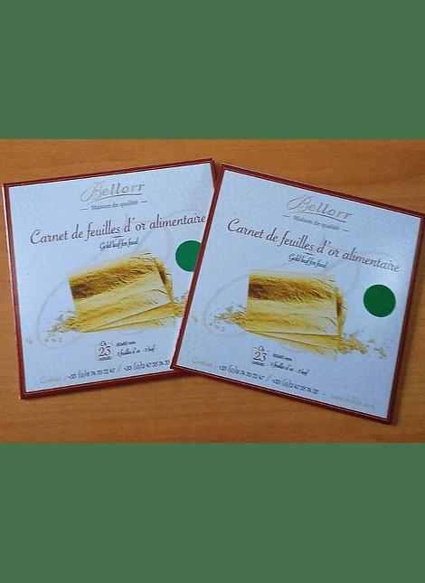 Hojas de oro comestible  - 23 carats x 4