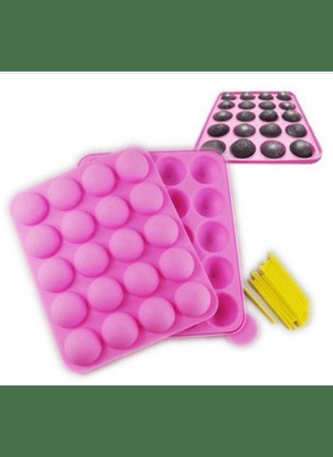 Molde de silicón lollypop 20 cavidades 4-1682