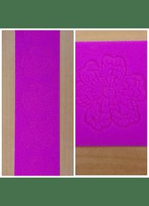 Cenefa silicón flores 38x9 cm 63-168