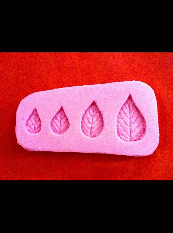 Molde de silicón hojas